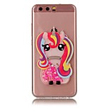 For HUAWEI Y5 Y6 II Case Cover Unicorn Flash Powder Quicksand TPU Material DIY Phone Case P10 P9 P8 Lite Plus (2017)