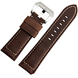 For  Suunto ESSENTIAL 24mm  ZETHYDUM Watch Band Strap Solid color Leather Classic Buckle