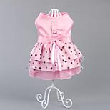 Собака Платья Одежда для собак Для вечеринки На каждый день Принцесса Зеленый Розовый