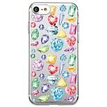 Чехол для iphone 7 плюс 7 крышка прозрачный узор задняя крышка чехол сердце геометрический узор мягкий tpu для iphone 6s плюс 6s 6 плюс 6