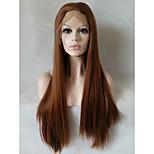Естественные парики синтетический Лента спереди парики Средний Длиный Medium Auburn Волосы