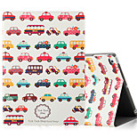 For Apple iPad (2017) iPad Air 2 iPad Air Case Cover with Stand Flip Pattern Full Body Case Cartoon Hard PU Leather