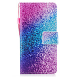 For Huawei P8 Lite (2017) P10 Case Cover Marble Rainbow Sand Pattern Painted PU Skin Material Card Stent Wallet Phone Case P10 Plus P10 Lite