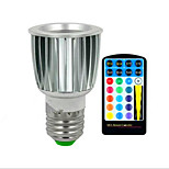 5W E26/E27 LED Spotlight Recessed Retrofit 3 Integrate LED 180 lm RGB Dimmable Remote-Controlled Decorative AC85-265 V 1 pcs