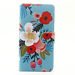 For SONY Xperia X XA Case Cover The Flowers Pattern PU Leather Case for Xperia M4 Aqua