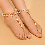 Women's Anklet/Bracelet Imitation Pearl Rhinestone Alloy Fashion Drop Jewelry For Daily Casual 1 pcs