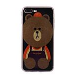 Для яблока iphone 7 7plus case cove медведь узор вспышка порошок imd процесс tpu материал телефон чехол iphone 6 6s плюс se 5s 5
