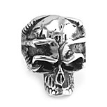 Women's Men's Statement Rings Euramerican Hip-Hop Stainless Steel Skull / Skeleton Jewelry 147 Special Occasion Party/ Evening Daily
