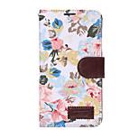 Til Samsung Galaxy Note5 Note4 Case Cover blomster pu læder mobiltelefon holster note3