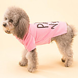 Dog Shirt / T-Shirt Dog Clothes Sports Fashion Casual/Daily British Blushing Pink Blue Green Fuchsia Yellow