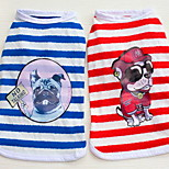 Other Clothes/Jumpsuit Dog Clothes Cute Casual/Daily Stripe Pool Ruby