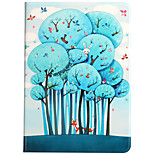 For Apple iPad (2017) iPad Air 2 iPad Air Case Cover Shockproof with Stand Flip Pattern Full Body Case Animal Tree Hard PU Leather