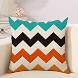 1 Pcs Colorful Wave Stripe Printing Pillow Cover Creative Square Pillow Case Cotton/Linen Cushion Cover