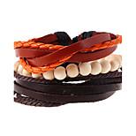 Vintage Simple Multi Layer Beaded Braided Leather Bracelet