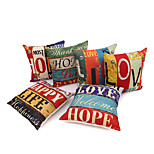 1 Pcs 45cm*45cm  LOVE HOME British style Mediterranean pillow case
