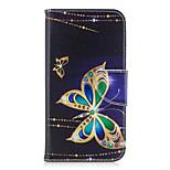 Για το γαλαξία της Samsung a5 (2017) a3 (2017) τηλεφωνική περίπτωση pu δέρμα υλικό μεγάλο σχέδιο πεταλούδα βαμμένο a5 (2016) a3 (2016)
