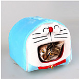 Cat Dog Bed Pet Mats & Pads Cartoon Waterproof Portable Soft Tent Light Blue