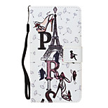 For Huawei P8 Lite (2017) P10 Lite Case Cover Tower Letters Pattern PU Material Painted Card Wallet Stent All-Inclusive Phone Case P8 P9 Lite