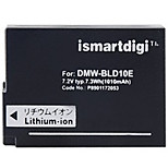 Ismartdigi BLD10E 7.2V 1010mAh Camera Battery for Panasonic DMC-GF2 GF2GK G3 G3GK GX1 GX1GK