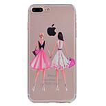Pour iphone 7 plus 7 housse ultra-mince transparent sac à dos de fond housse doux tpu pour 6s plus 6 plus 6 se 5s 5