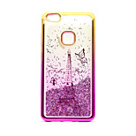 For Huawei P10 Lite P8 Lite (2017) Case Cover Flowing Liquid Pattern Back Cover Case Glitter Shine Eiffel Tower Soft TPU