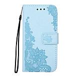 Hoesje voor Samsung Galaxy S7 s7 rand behuizing cover glittering proces diagonaal bloem patroon pu leer materiaal kaart stent reliëf