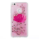 For Huawei P9 Lite P8 Lite Case Cover Flower Pattern Flash Powder Quicksand TPU Material Phone Case P8 Lite (2017)