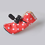 Dog Shoes & Boots Waterproof Polka Dots Blushing Pink Blue Ruby Rose