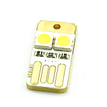 Computer Keyboard Lights Mini USB Mobile Power Two 5050 Chubby Pier Double-Sided Warm White or Cool White