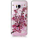Hoesje voor Samsung Galaxy S8 S8 Plus hoesje hoesje Pruim bloesem patroon Hoge transparant TPU Materiaal Imd Hoesje Chiffon Telefoon