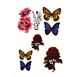 8Pcs/Set Temporary Tattoos Shoulder Animal Series 3D Waterproof Tattoos Stickers Non Toxic Glitter Large Fake Tattoo Body Jewelry Halloween 22*15cm