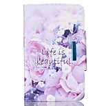 For Apple iPad 4 3 2 Case Cover Flower Pattern PU Skin Material Apple Flat Protective Shell
