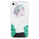 Case for apple iphone 7 plus 7 обложка обложка задняя крышка чехол сексуальный леди цветок мягкий tpu 6s 6s плюс 6 плюс 6