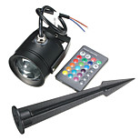DC12V /AC85-265V 10W RGB Colorful Remote Control LED Earth Lamp / Lawn Lamp 1Pcs