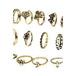 Жен. Классические кольца Кольцо манжета кольцо Мода Multi-Wear способы Euramerican Простой стиль Железный сплав Бижутерия НазначениеНа