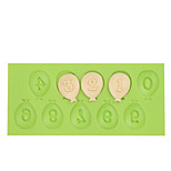 Balloon Cake Decoration Tools Silicone Number Mold Fondant Mold for Chocolate Fimo Clay