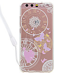 Case For Huawei P10 Lite P10 Butterfly Pattern Acrylic Backplane and TPU Edge Materia Neck Lanyard P9 Lite P8 Lite 2017 P8 Lite