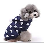 Собака Свитера Одежда для собак На каждый день Геометрические линии Черный Темно-синий Красный Зеленый Розовый