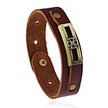 Retro Fashion Accessories Leather Bracelet Clover