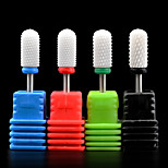 1PCS Nail Art Ceramic Grinding Head Electric Nails Grinding Machine Special Tool 4 Color Optional