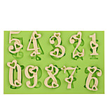 Love Heart Silicone Number Mold Cake Decoration Tools Fondant Mold Chocolate Fimo Clay Mold
