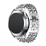 Metal Stainless Steel Link Chain Watch Band Strap for Samsung Gear S3 Classic Cowboy Casual Band Bracelet