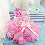 Собака Платья Одежда для собак На каждый день Цветочные/ботанический Лиловый Розовый