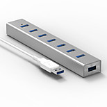 Blueendless H702U3 USB3.0 5.0 Gbps 7 Ports 0.6m Cable HUB With Power Adapter
