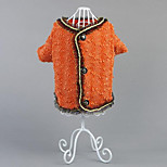 Dog Coat Dog Clothes Casual/Daily Princess Orange Black White