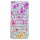 Кейс для nokia 6 обложка полупрозрачный рисунок задняя крышка чехол цветок soft tpu кейс