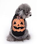 Собака Костюмы Одежда для собак Косплей Хэллоуин Цветочные / ботанический Черный
