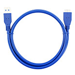 USB 3.0 Cable, USB 3.0 to USB 3.0 Micro-B Cable Macho - Macho 0,6 m (2Ft)
