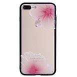 Для яблока iphone 7plus 7 phone case combo розовый цветочный узор окрашенный лак тиснением скраб телефон корпус 6s плюс 6plus 6s 6 se 5s 5