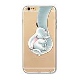 Tok iphone 7 plus 7 fedél átlátszó mintás hátlap burkolat elefánt puha tpu az iphone 6s plusz 6 plusz 6s 6 se 5s 5c 5 4s 4